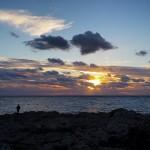 Malta sunset (and that's me) Tramonto a Malta (e quello sono io)