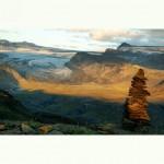Myrdalsjokull, on the laugavegur hike *latergram* #iceland #islanda #panorama #instagramiceland #ig_iceland #hiking #trekking #myrdalsjokull #laugavegur #emstrur #landmannalaugar