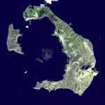 Santorini, foto satellitare