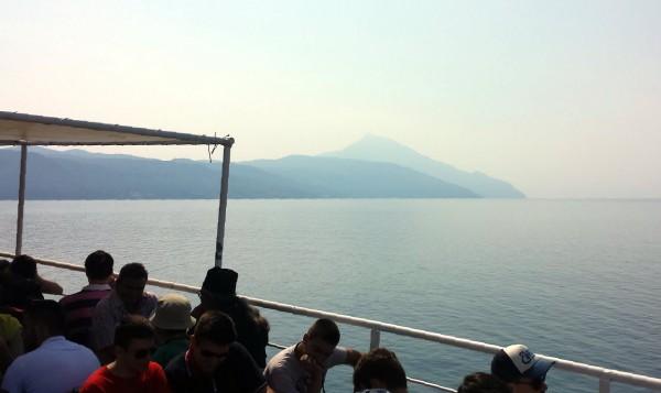 Viaggio al monte Athos, il traghetto