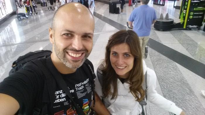 La partenza da Milano