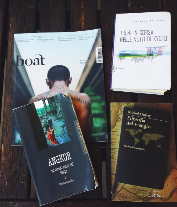 Angkor, Boat Magazine, Treni in corsa nelle notti di Kyoto e Filosofia del viaggio