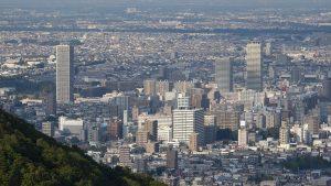 Sapporo dal monte Okurayama (foto di Asacyan, da Wikimedia commons - licenza creative commons attribution)