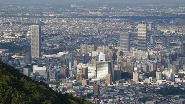 Sapporo dal monte Okurayama