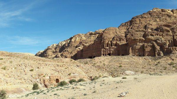 Le tombe dei re a Petra, in Giordania