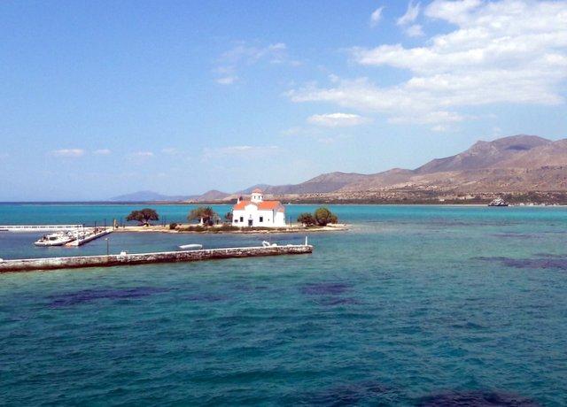 L'église de San Spiridione, en face d'Elafonissos