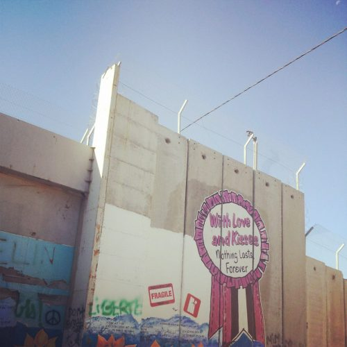 Nothing lasts forever - west bank mural