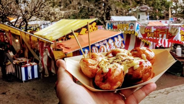 Takoyaki fra i prugni in fiore!