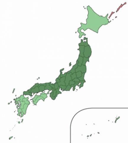 Cartina Muta Del Giappone.Quando Andare In Giappone Le Stagioni Orizzonti Blog