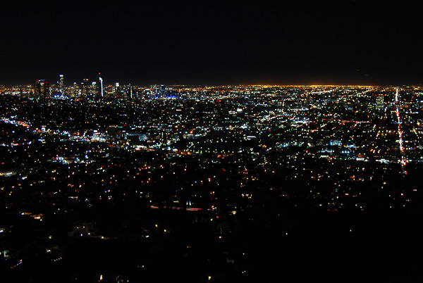 Il panorama dal Griffith Observatory