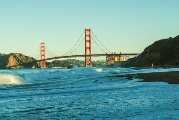 Il Golden Gate Bridge da Baker Beach
